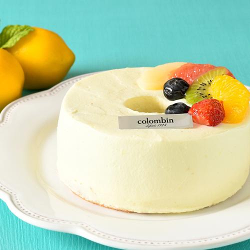 レモンクリームの米粉シフォン