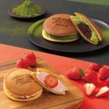 スマイル サンドパンケーキ(苺・抹茶&あんこ)