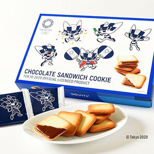 東京2020オリンピックマスコットチョコサンドクッキー 21枚入り